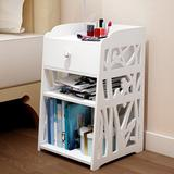 Winston Porter Terneuzen 1 - Drawer Nightstand in White Wood in Brown/White, Size 19.7 H x 11.8 W x 11.8 D in   Wayfair