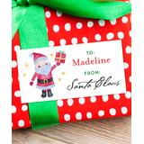 Chickabug - Country Santa Signed Santa Personalized Gift Label - Set of 28