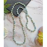 My Gems Rock! Women's Necklaces Light - Aquamarine & Sterling Silver Beaded Necklace