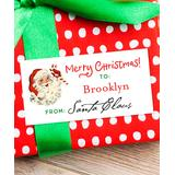 Chickabug - Santa Claus Signed Santa Personalized Gift Label - Set of 28