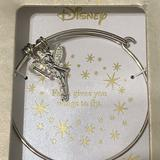 Disney Jewelry   Disney Stainless Steel Tinker Bell Charm Bracelet   Color: Silver   Size: Os