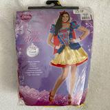 Disney Other | Disney Snow White Adult Costume | Color: Red/Yellow | Size: Small (2-4)