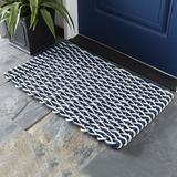 Rope Doormat Sand/Charcoal Small - Ballard Designs