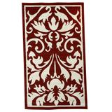 Capri Red 5' x 7' Area Rug by Linon Home Dcor in Red