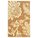 Capri Floral 5' x 7' Area Rug by Linon Home Dcor in Beige Floral