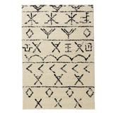 Moroccan Rug by BrylaneHome in Ivory Black (Size 8'W X 10'L)