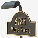 Solar Lamp with Extender by Whitehall Products in Black