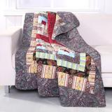 """Colorado Lodge Quilted Patchwork Throw Blanket by Greenland Home Fashions in Multi (Size 50"""" X 60"""")"""