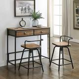 Urban Loft Breakfast Table with 2 Swivel Stools by 4D Concepts in Natural Wood