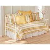 Florence Daybed Bedspread by BrylaneHome in Dandelion Stripe (Size DAYBED)