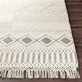 Blakeview 2' x 3' handmade Farmhouse Moroccan NZ Wool Black/Cream Area Rug - Hauteloom
