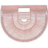 Acrylic Ark Small Tote Bag - Pink - Cult Gaia Totes