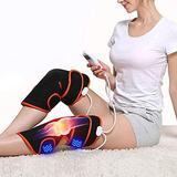 SIRENK Leg Massager, Leg Foot and Calf Massager Machine for Restless Leg Muscle Pain Relief Vibration Knee Brace (Color : Black)