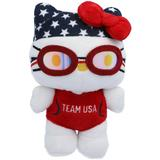 """Team USA 6'' Hello Kitty Swimmer Plush"""