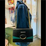 Nine West Bags   Nine West Shoulder Bag In Black   Color: Black/Green   Size: Os