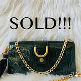 Gucci Bags | Authentic Gucci Wallet On Chain | Color: Gold/Green | Size: Os
