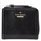 Kate Spade Bags | Kate Spade Patterson Leather Bifold Wallet | Color: Black | Size: Os