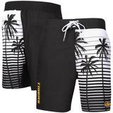 Men's G-III Sports by Carl Banks Black LSU Tigers Tropical Volley Swim Trunks