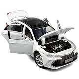 XMSM Vehicles Toy Car 1:32 for Toyota for Avalon Alloy Toy Car Metal Diecast Vehicle Model Sound Light Wheel Steering Suspension Toys for Boys for Kids Gift (Color : White)