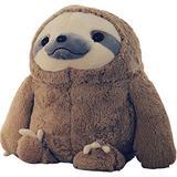 MUYANG Sloth Stuffed Animal-Stuffed Sloth-Cute Wild Stuffed Sloth Plush Toy-Perfect Stuffed Animal Gift (White/Brown) (Brown,27 inches)