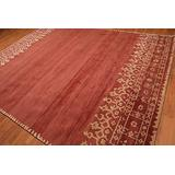 Old Hand Made Moore Terra Red Floral Traditional Persian Oriental Woolen Area Rugs (5'x8')