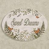 Butterfly Eden Sweet Dreams Wall Plaque Green , Green