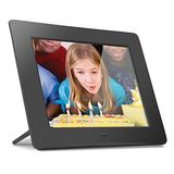 "Aluratek 8"" LCD Digital Photo Frame w/4GB Built-In Mem & USB SD/SDHC Support (ADMPF108F) , Black"