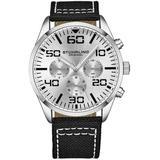 Aviator Silver-tone Dial Watch - Metallic - Stuhrling Original Watches