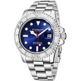 Aquadiver Blue Dial Mens Watch - Metallic - Stuhrling Original Watches