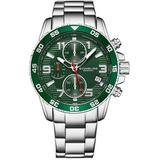 Monaco Green Dial Watch - Green - Stuhrling Original Watches