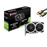 MSI Gaming GeForce GTX 1660 Ventus XS OC Graphics Card, 6GB 192-Bit GDDR5 PCIe 3.0 x 16 HDCP Ready Dual-Fan TORX Fan 2.0 1x HDMI 2.0b 3X DisplayPort 1.4 w/ Mytrix HDMI Cable