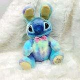 Disney Toys   Disney Lilo Stitch Easter Bunny Tie Due Plush Toy   Color: Blue/Yellow   Size: Osbb