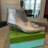 Kate Spade Shoes   Kate Spade Silver Kitten Heel Booties   Color: Silver   Size: 10