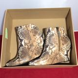 Jessica Simpson Shoes | Jessica Simpson Ronica Snake Wedge Ankle Bootie | Color: Brown/Cream | Size: 6.5