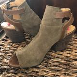 Nine West Shoes   Nine West Peep Toe Suede Booties   Color: Green   Size: 6