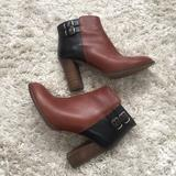 Madewell Shoes   Madewell, Double-Buckle Bootie, 7   Color: Black/Brown   Size: 7