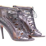 Nine West Shoes | Nine West Cage Sandal - High Heel Stiletto | Color: Black | Size: 10