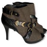 Nine West Shoes   Nine West Olive Leather Peep Toe Ankle Bootie   Color: Black/Green   Size: 8.5