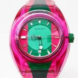 Gucci Accessories | Gucci Unisex Swiss Sync Pink & Green Rubber Strap | Color: Green/Pink | Size: Os