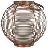 Neptune Dark Copper Round Metal LED Outdoor Lantern Light