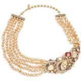 Women's Goldtone & Multi-stone Cluster Multi-strand Necklace - Metallic - Heidi Daus Necklaces