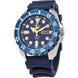 5 Automatic Blue Dial Mens Watch - Blue - Seiko Watches