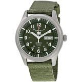 5 Sport Automatic Khaki Green Canvas Watch - Green - Seiko Watches