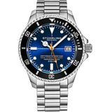 Aquadiver Automatic Blue Dial Mens Watch - Blue - Stuhrling Original Watches