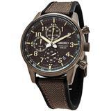Chronograph Quartz Brown Dial Mens Watch - Brown - Seiko Watches