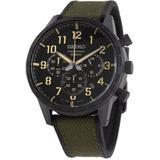 Lord Chronograph Quartz Black Dial Mens Watch - Black - Seiko Watches