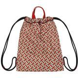 Monogram Print Nylon Drawcord Backpack - Pink - Burberry Messenger