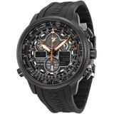 Navihawk A-t Eco-drive Chronograph Mens Watch -50e - Black - Citizen Watches