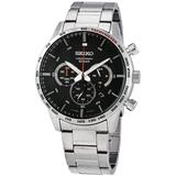 Neo Sports Chronograph Quartz Black Dial Watch - Black - Seiko Watches
