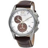Jazzmaster Chronograph Quartz Silver Dial Watch - Metallic - Hamilton Watches